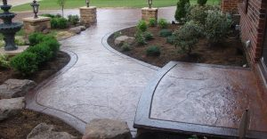 Decorative concrete flatwork installation in Syracuse, New York